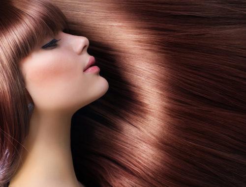 美しい艶髪の女性の画像
