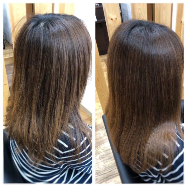美髪矯正専門店 北秋田市の美容室ハルの美髪矯正のモデル画像