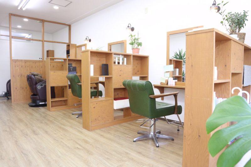 秋田市の美髪矯正専門店サロンHaleの店内画像